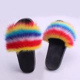 Indoor Children Shoes Fashion Wholesale Fox Fur Slides Toddler Girls Women and Child New Design Cheap Kids Shoes