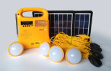 10W Mini Portable FM Radio/MP3/Mobile Phone Charger/4*3wled Bulbs Solar Power Gengeator System LED Light for Electricity Lack Areas