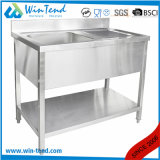 Wholesale Kitchen Sink Wash Basin Steel Workbench with Bottom Shelf