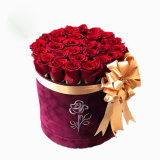 Wholesale Velvet Roses Waterproof Hat Round Flower Box
