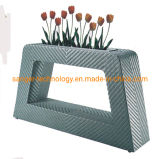 Plant Stand Indoor Outdoor Flower Pot Holder Patio Planter Balcony Tall Planter Flower Box Rectangle Rattan