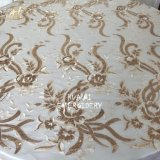 Hualai High Quality 132 Round Champagne Sequin Table Clothes for Wedding