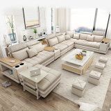 Fabric or Leather Living Room Sofa Set 7 Seater