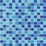 Hotel 20X20mm Blue Glass Mosaic Tile Wholesale Cheap Vintage Swimming Pool Tile for Sale