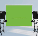Wall Ceiling Hanging Self-Lock Manual Pull Down Green Screen Backdrop Photography Background