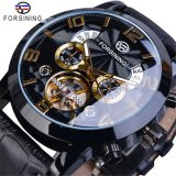 Forsining 180 Tourbillion Fashion Multi Function Display Mens Automatic Mechanical Watches Top Brand Luxury