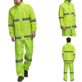Promotion Price Waterproof Polyester Safety Reflective Raincoat Workwear for Traffic Safety