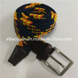 Brown, Gold, Black Brighten Color Mixture Braided Belt