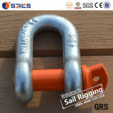 ISO Alloy Steel 17tons Forged Colorpin G210 Metal Shackle
