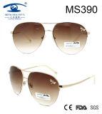 New Product Double Bridge Women Metal Sunglasses (MS390)