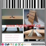 Supermarket MDF Slatwall Board with Aluminium Alloy Profile