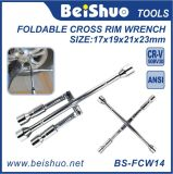 Car Foldable Cross Rim Wrench Maintenance Tool