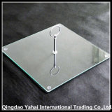 4mm Square Glass Cake Plate with Handle / Cake Holder
