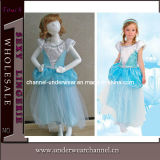 Girls Snow Queen Gown Dresses Costume for Children