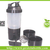 600ml Plastic Shaker Bottle with Wire Ball