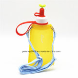 11oz Collapsible Silicone Material Leak Proof Travel Water Bottle