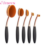 Wholesale Professional 5PCS Oval Rose Golden Toothbrush Brush Set Makeup Brushes