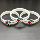 Lowest Price Customized Any Logo Silicone Wristband/Bracelets for Promotion Avtivity (WB24-C)