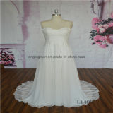 Beach Style Strapless Chiffon Bridal Wedding Dress