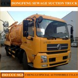 2100 Gals Dongfeng Tianjin 8000L Vacuum Truck Sewage Suction Truck for Sale