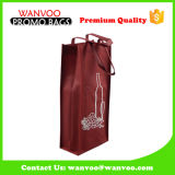 Durable Non Woven Wine Two Bottled Bag for Outside Picnic and Gift Packing