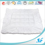 Pure White Cotton Microfiber Filled Mattress Topper Protector