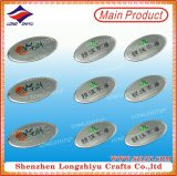 High Quality Oval Shape Furniture Label Metal Nameplate Wholesale