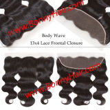 """Ear to Ear 13""""X4"""" Lace Frontal Closure Body Wave, 100% Human Remy Hair, High Quality, Favorable Price"""