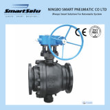 Ss High Pressure Black Color Trunnion Mounted Ball Valve