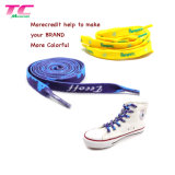 Cheap Custom Wholesale Shoe Laces Polyester Printed Logo Flat Colorful Sport Shoelaces
