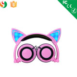 Stylish Cat Ear Glowing LED Light Stereo Wired Headset Headphone