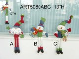 Spring Body Santa and Snowman Christmas Decoration Gift-3asst.