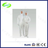 White ESD Work Garment with Cap (Leg Opening Design) (EGS-PP22)