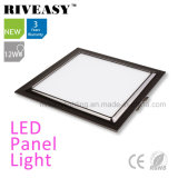 Electroplated Aluminum 12W Black LED Panel Light