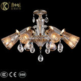 Modern Style Amber Crystal Chandelier Light