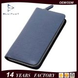 Fashion Custom Logo Men Allport Zip Wallet Genuine Leather Handbag