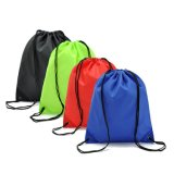 Promotion Polyester/Nylon Drawstring Backpack Bag for School Home Travel/Sport Storage