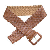 Leather Fashion Lady Weave PU Belt Ky1512