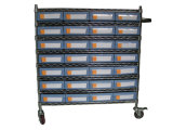 Wire Shelving Trolley with Bin Units (WST15-4109)