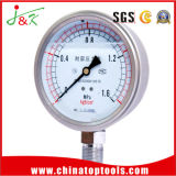 Shock Proof Manometer Pressure Gauge with Liquid Filling
