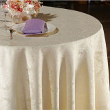 Polyester Table Cloth in Pure White Color (DPR2003)