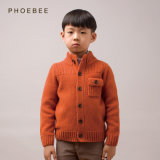 100% Lambswool Orange Children Coat for Boys