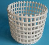 White Hollow out Slap-up Porcelain Vegetable and Fruit Water Filters High Round Basket