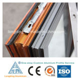 Luxury Aluminum Wood Grain Finish Hinged Window