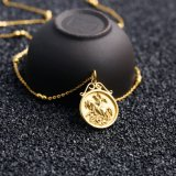 Fashion Stainless Steel Jewelry Commemorative Coin Charm Necklace