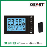 Wireless USB in/out Door Thermometer Weather Station Clock Ot3028TF1