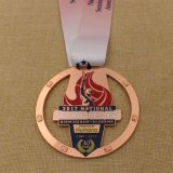 Custom Metal Shiny Gold Marathon Finisher Medal for Events