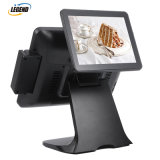 "15"" Dual Touchscreen All in One POS System Cash Register with 9.7 Inch Customer Display"