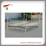 High Quality Metal Double Bed with Wooden Slats (HF075)