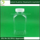 Pet 300ml Clear Rectangular Plastic Bottle for Capsule